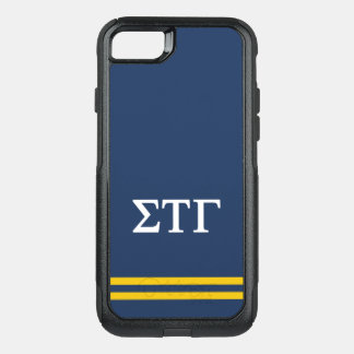 Sigma Tau Gamma | Sport Stripe OtterBox Commuter iPhone 8/7 Case