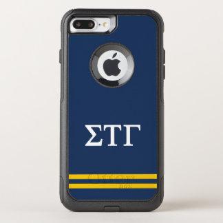 Sigma Tau Gamma   Sport Stripe OtterBox Commuter iPhone 8 Plus/7 Plus Case