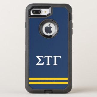 Sigma Tau Gamma | Sport Stripe OtterBox Defender iPhone 8 Plus/7 Plus Case