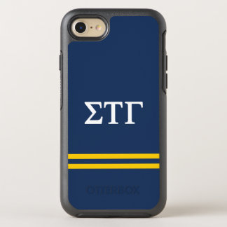 Sigma Tau Gamma | Sport Stripe OtterBox Symmetry iPhone 8/7 Case