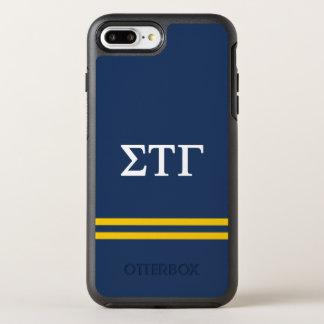Sigma Tau Gamma | Sport Stripe OtterBox Symmetry iPhone 8 Plus/7 Plus Case