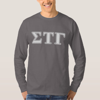 Sigma Tau Gamma White and Blue Letters T-Shirt