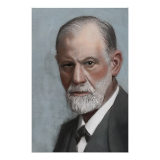 Sigmund Freud Psychologist Art Portrait Poster