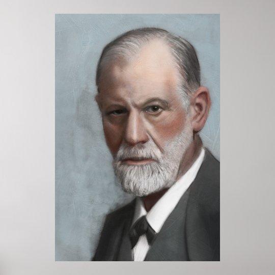 Sigmund Freud Psychologist Art Portrait Poster