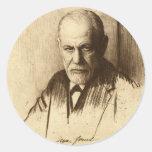 Sigmund Freud Round Sticker