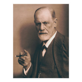 Sigmund Freud with Cigar Poster