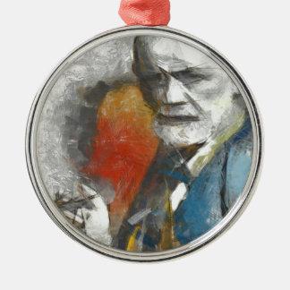 Sigmund Silver-Colored Round Decoration