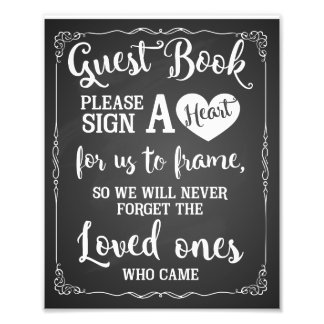 sign a heart guest book wedding sign