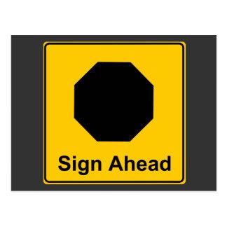 Sign Ahead Postcard