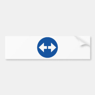 Sign Arrows Products & Designs! Bumper Sticker