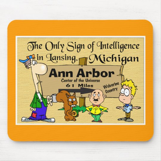 Sign for Ann Arbor Mouse Mat