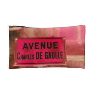 Sign in French of Paris street sign Makeup Bags