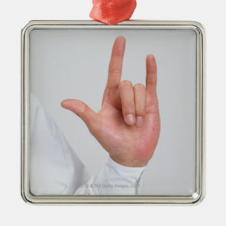 Sign Language 5 Christmas Ornament
