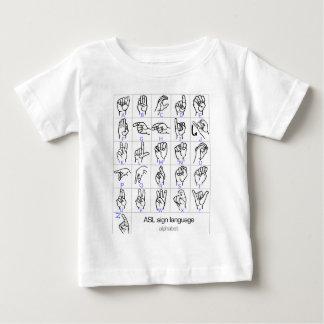 SIGN LANGUAGE ALPHABET baby shirt