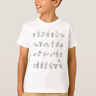 Sign Language Alphabet T-Shirt