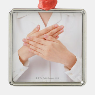 Sign Language Christmas Ornament