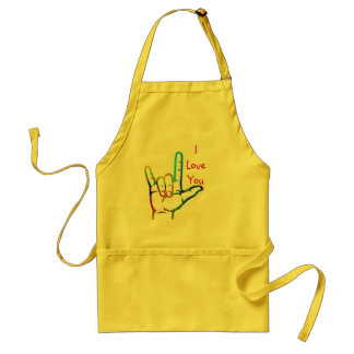 Sign Language I love you Apron