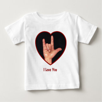 SIGN LANGUAGE I LOVE YOU HEART, HAND BABY T-Shirt