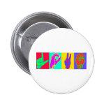 Sign Language LOVE 6 Cm Round Badge