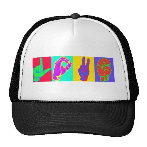 Sign Language LOVE Trucker Hat