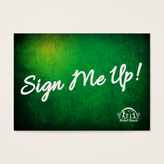 Sign me up Card for Bethel Church