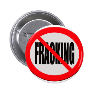 Sign no fracking 6 cm round badge