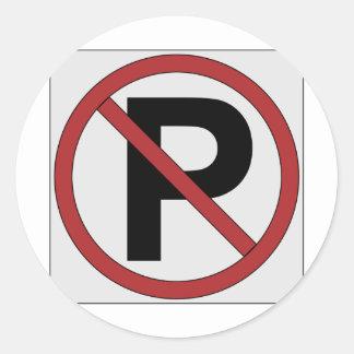 sign noparking round sticker