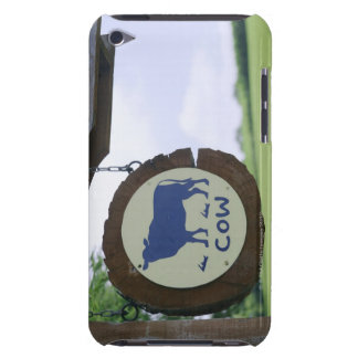 Sign of a dairy farm iPod touch case