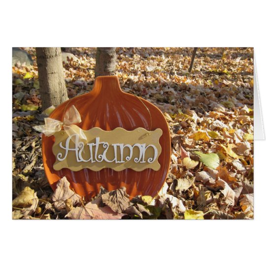 Sign of Autumn Card