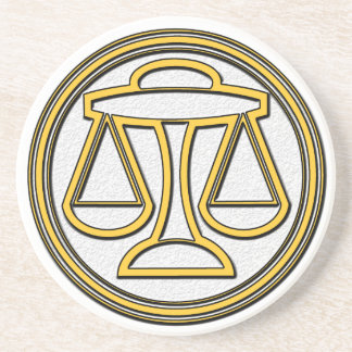 Sign of  Libra Beverage Coasters