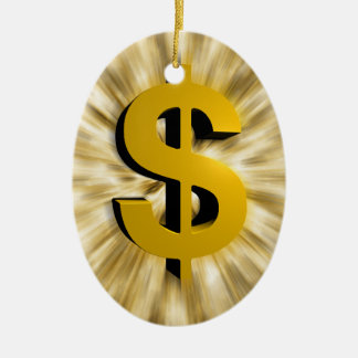Sign of Money Christmas Ornament