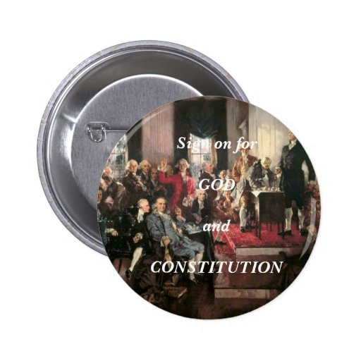 Sign on Constitution Pin