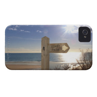 Sign post for coast path near beach, Gerrans Case-Mate iPhone 4 Case