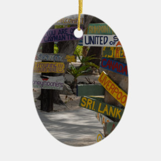 Sign Post Rum Point Grand Cayman Christmas Ornament