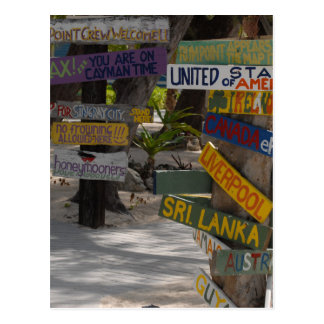 Sign Post Rum Point Grand Cayman Postcard