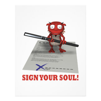 Sign Your Soul To The Devil Custom Flyer
