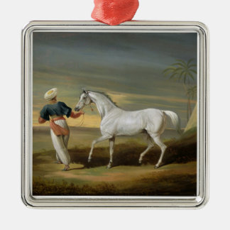 Signal, a grey Arab, with a Groom in the Desert (o Christmas Ornament