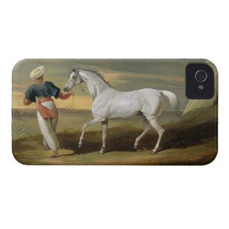 Signal, a grey Arab, with a Groom in the Desert (o iPhone 4 Case