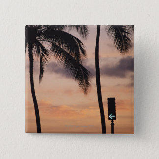 Signal and Palm Tree 15 Cm Square Badge