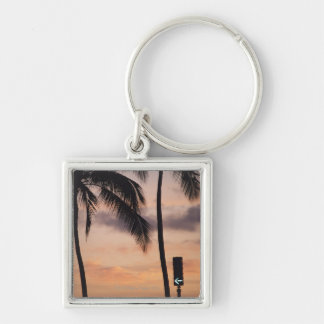 Signal and Palm Tree Key Ring