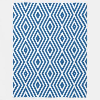 Signal Blue Moods Diamond Chevrons Fleece Blanket