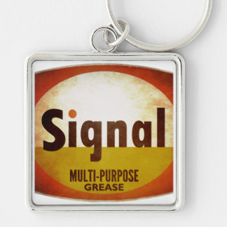 Signal Grease vintage sign weathered Keychain