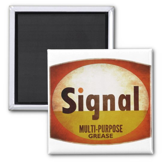 Signal Grease vintage sign weathered Magnet