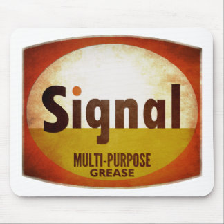 Signal Grease vintage sign weathered Mouse Pad