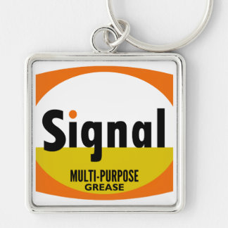 Signal Multi-purpose Grease vintage sign flat Key Chains