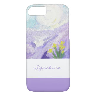 SIGNATURE ART | mountain flowers painting iPhone 8/7 Case