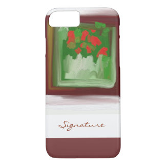 SIGNATURE ART | red and green painting iPhone 7 Case