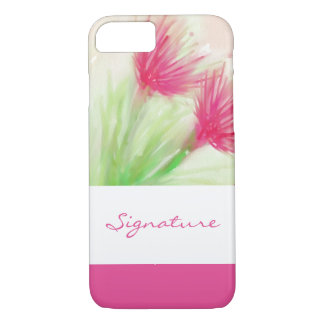 SIGNATURE ART | watercolor flowers painting iPhone 8/7 Case