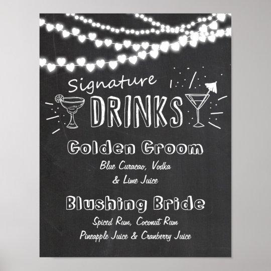 Signature Drink wedding chalkboard sign