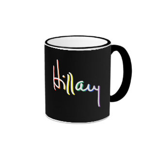 Signature Hillary Clinton Pride Rainbow -- LGBT Po Ringer Mug
